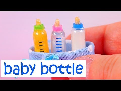 Tetero con frasco reciclado y masa flexible   Consejitos Express ♥L.C.M ♥ - YouTube