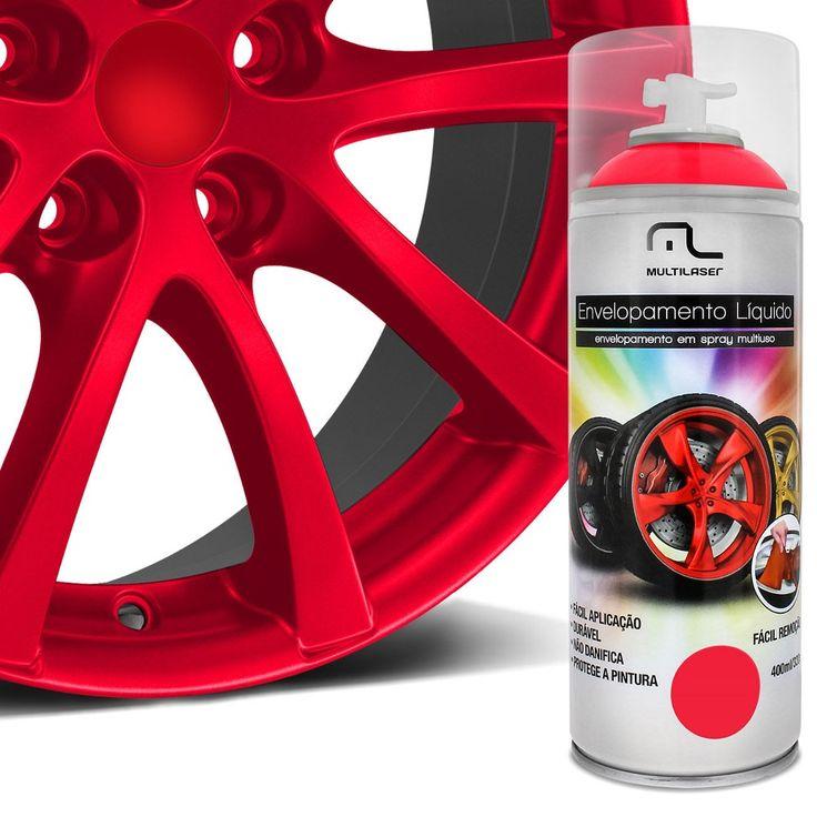 Spray de Envelopamento Líquido Multilaser 400 ml Vermelho Florescente - AutoParts Online - R$ 42,90