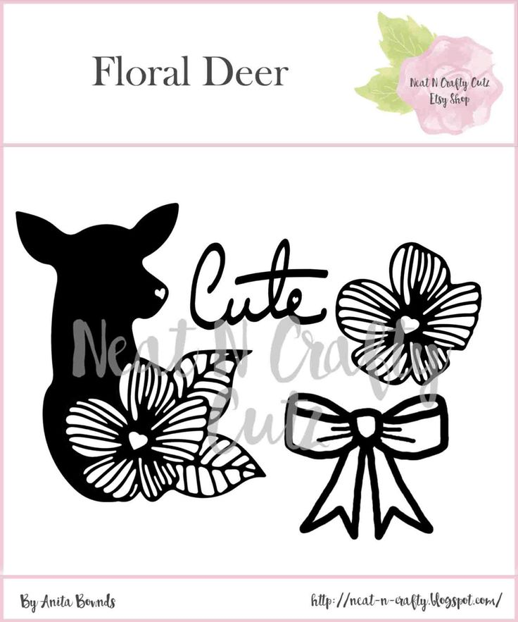 Floral Set 4 cut files. For scrapbooking and paper crafting by NeatNCraftyCutz…