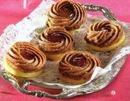 Ořechové věnečky s marmeládou