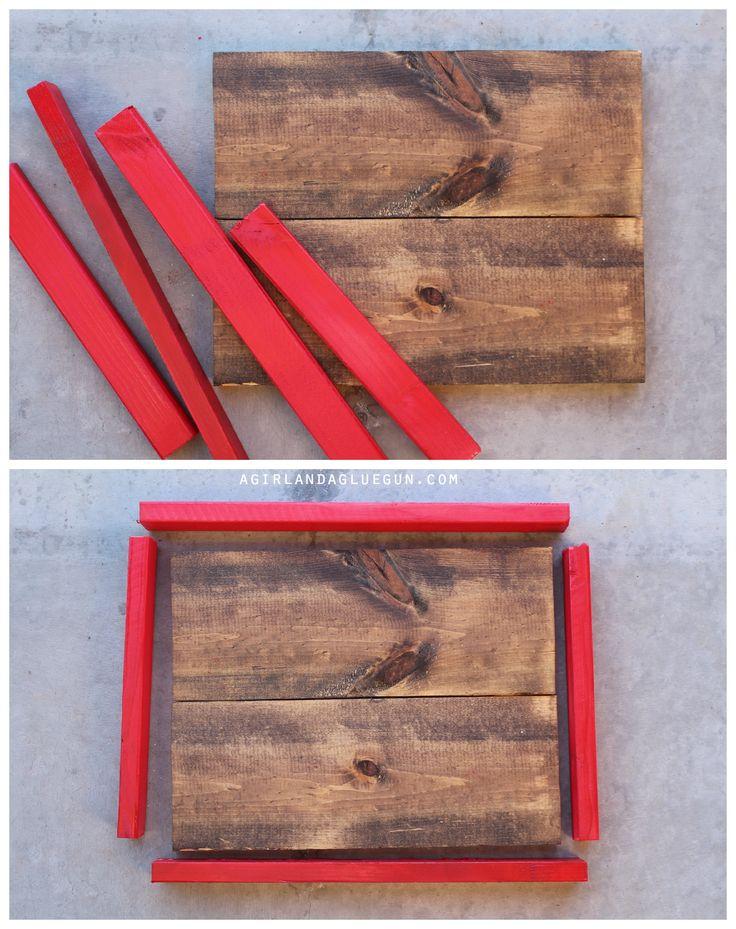painted diy wood frame