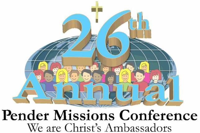 Pender's 26th Annual Mission Conference is this weekend - 4/12-4/14, 2013!    We will have activities for the whole family to enjoy. Including two themed pot luck suppers of South American and Asian/Indian Food, South American Dance Demonstrations, as well as, missionary speakers and wonderful music. A full agenda is available now!
