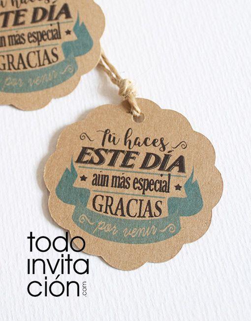 ETIQUETAS KRAFT REDONDAS «GRACIAS 1» – Pack 20 und