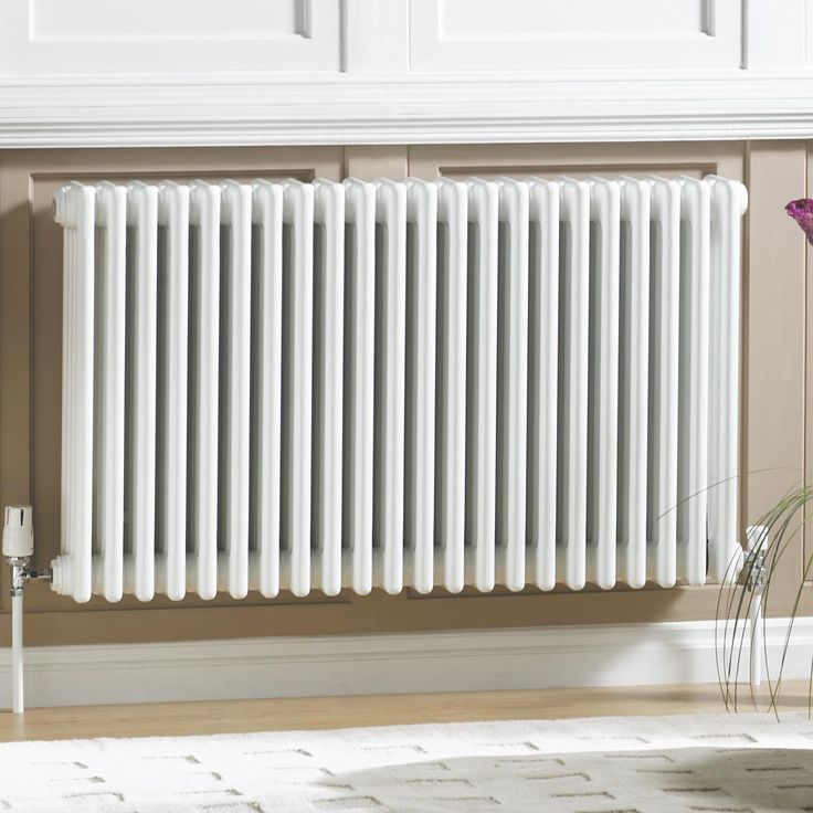 Acova 2 Column Radiator, White (W)812 mm (H)600 mm | Departments | DIY at B&Q for the second bedroom