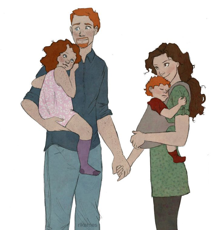 1000 images about fav fan art on pinterest ron and - Ron weasley and hermione granger kids ...