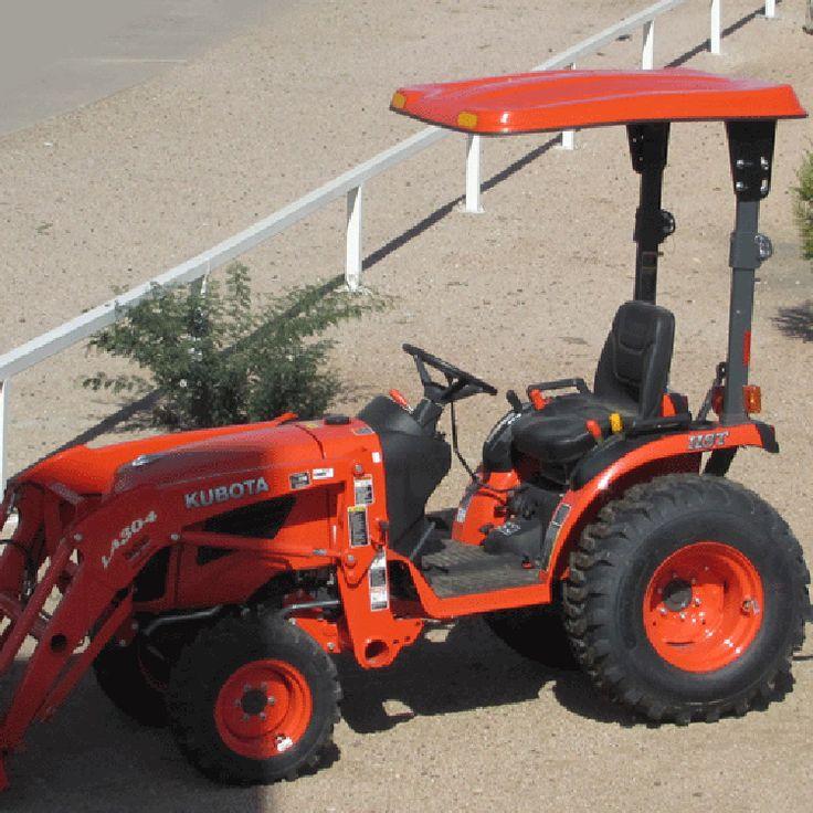 """41"""" W x 50"""" L x 5"""" D Fiberglass Tractor Canopy Kit for Compact Kioti Tractor"""