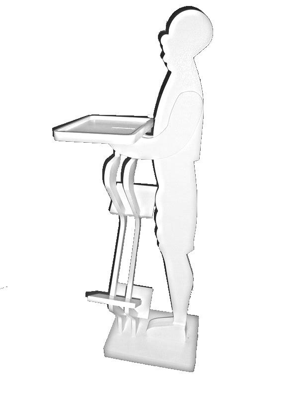 mod: ARTUR soul music    Questo modello è una delle tante versioni rielaborate di ARTUR.  Oltre al vassoio multifunzione ,  è stato inserito   un opzional  porta cd,  molto capiente  e allo stesso tempo sobrio e  elegante.   Artur è un oggetto dalle infinite versibilita':  portaombrelli,  portariviste, mini libreria ecc .    dimensioni :  altezza 115 cm                            larghezza 40 cm                            vassoio 24 * 30 cm