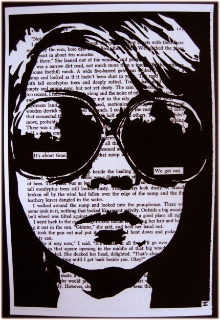 It's about time we got out, John Clark- pen and ink on novel. Love these!