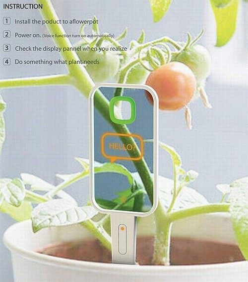 future, Plant Monitor, device, tech, gadget, innovation, concept, futuristic, technology, garden, Hyun Seok Kang, food