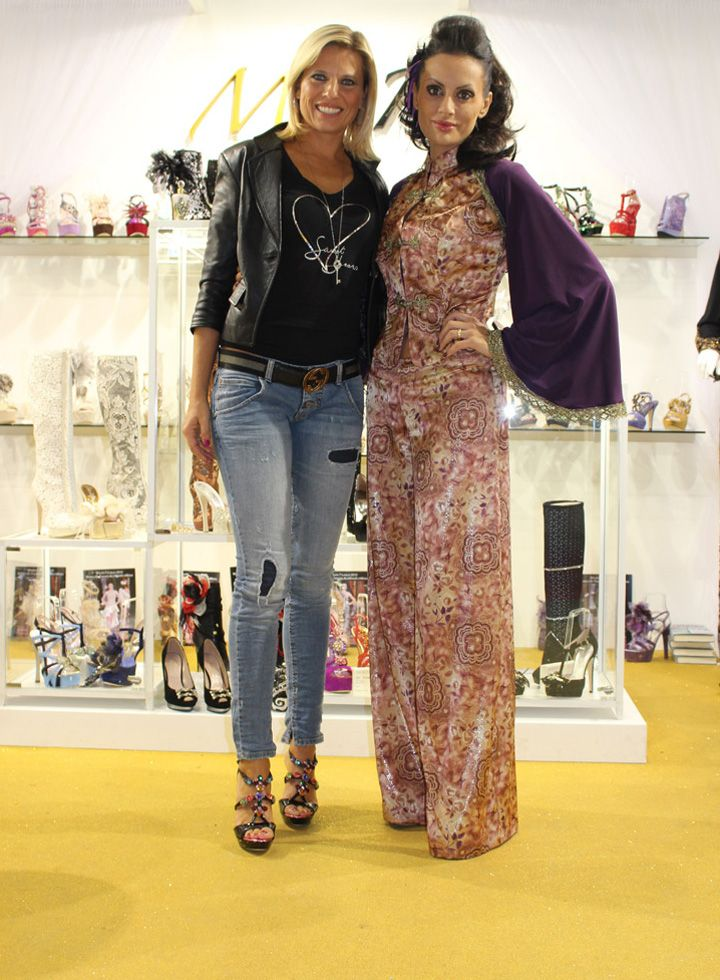Celebrities...Laura Freddi with Michela Rigucci #ilovemichelarigucciluxury Official website www.laurafreddi.org