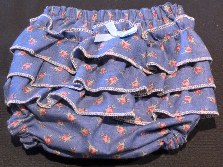 Ruffle Bottom Bloomers, Size 0000 by PrettyLittlePeachs on Etsy
