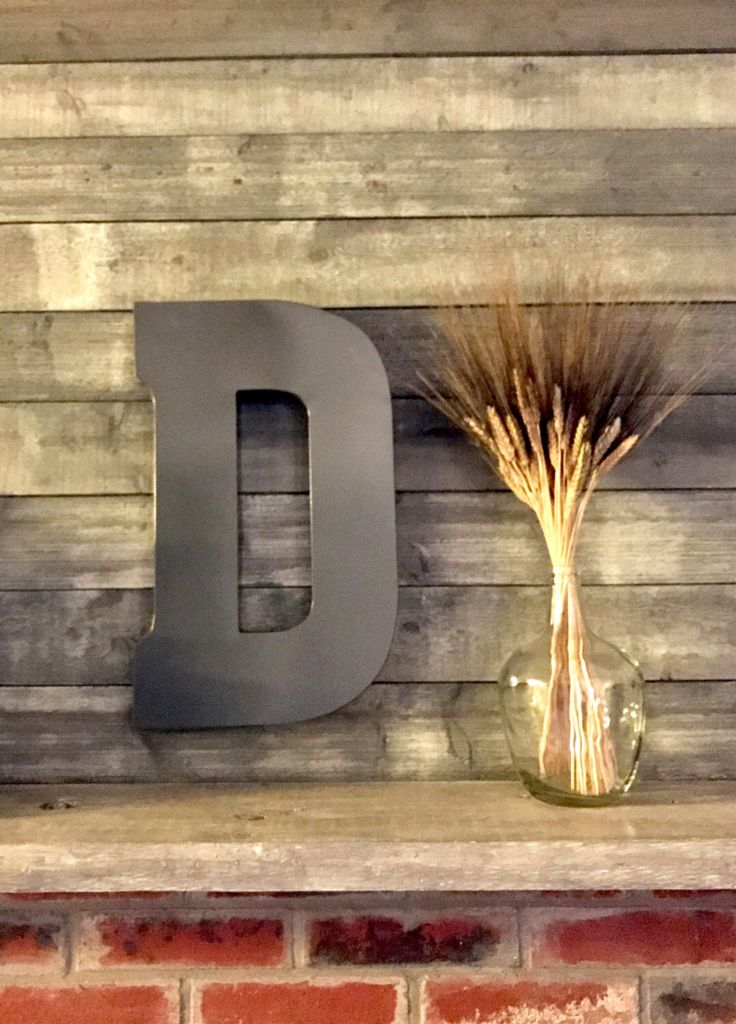 Large Metal Letter - Big Letter - Wall Letters - Rustic Decor - Wall Decor - Distressed Letters - Wedding decor by PenelopeMayDecor on Etsy https://www.etsy.com/listing/489924851/large-metal-letter-big-letter-wall