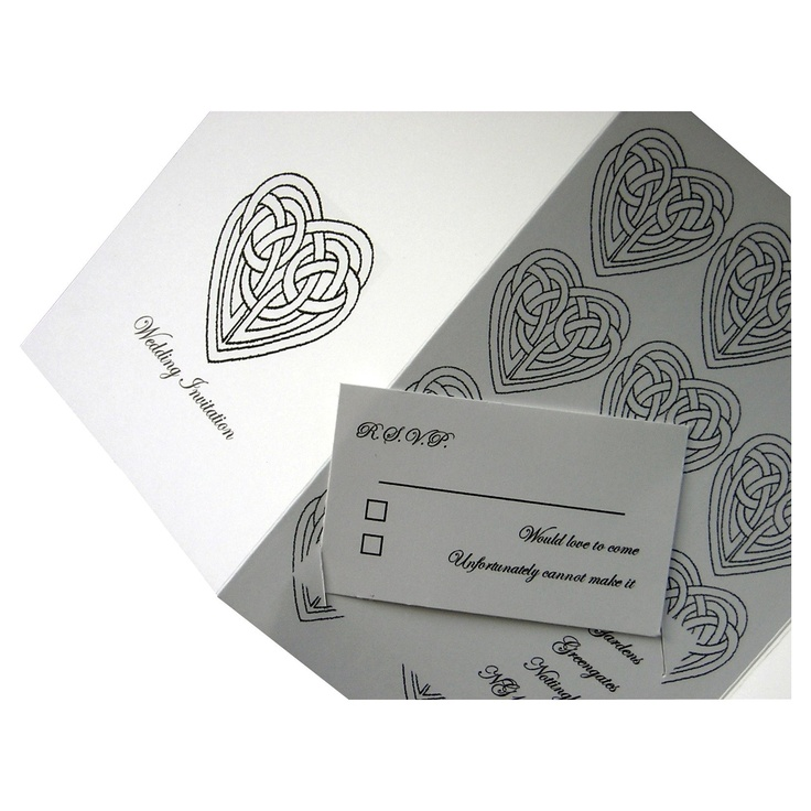 Celtic Knot Small RSVP Wedding Reply Cards | Scottish / Celtic Wedding | Pinterest | Wedding ...