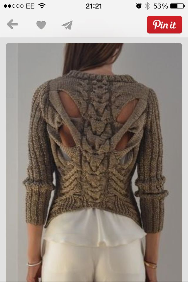 Gorgeous jumper back style!