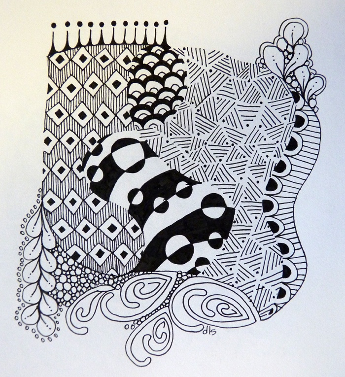Another Zentangle: Jena, Art, Zentangles, Drawing