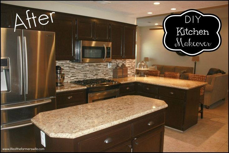 Diy staining kitchen cabinets dark espresso im going to for Staining kitchen cabinets