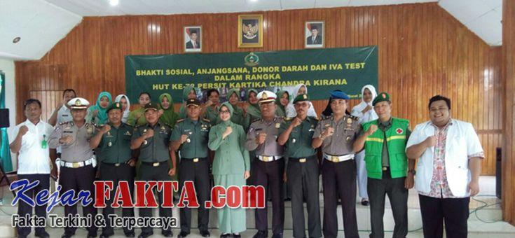 Kejarfakta.com,Lambar - Dalam rangka Hut ke -72 Persit Kartika Candra Kirana Pada hari Rabu,(7/03/18),dilaksanakan kegiatan donor darah d...