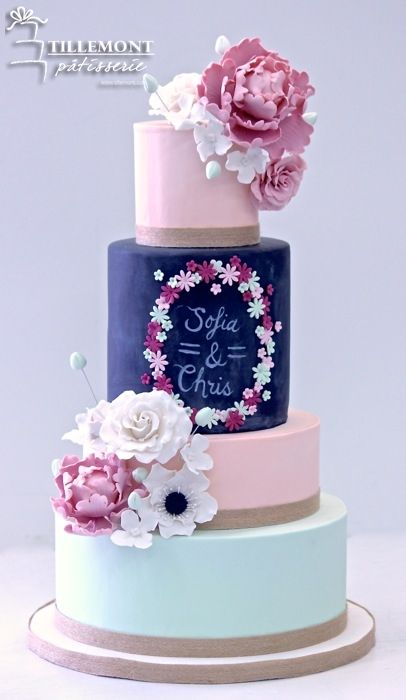 Spring time love Wedding Cakes | Patisserie Tillemont | Montreal