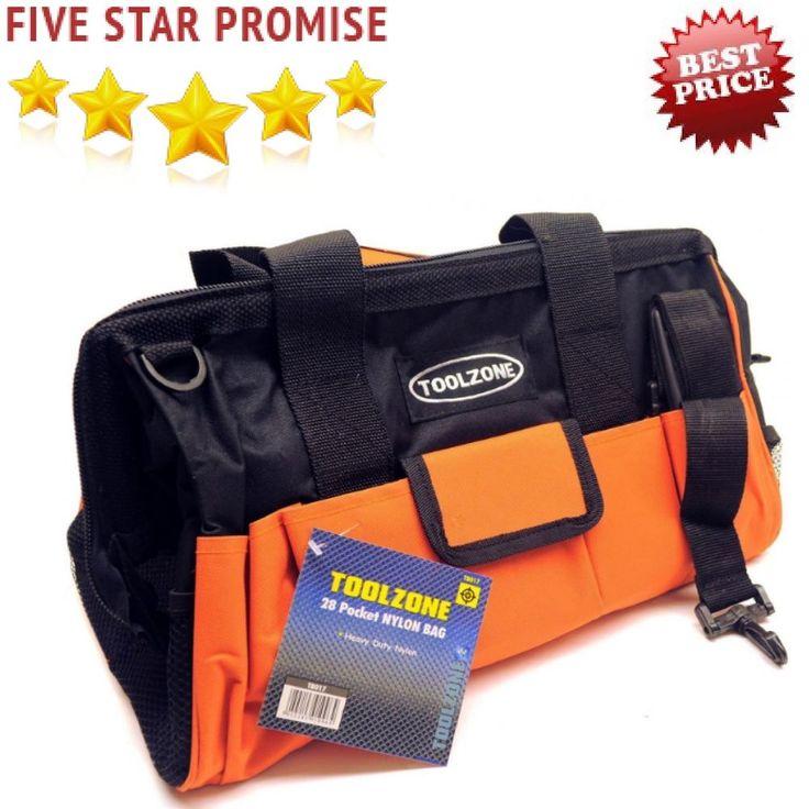 Professional Tool Bag DIY Heavy Duty Nylon Canvas Pockets Roll Pouch Holder Box #Toolzone