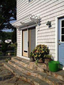 Patio Door Trellis on a Cottage in Virginia installation by Bay Haven Landscapes Colonial Beach VA & 34 best Window u0026 Door Pergolas images on Pinterest | Arbors ... pezcame.com