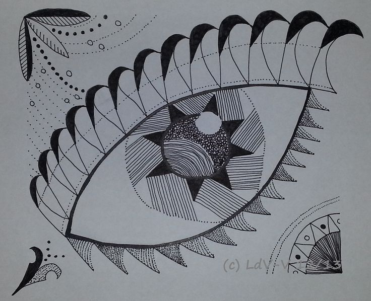 My first Zentangle. Fine marker and permanent marker on white versatile paper 135gsm