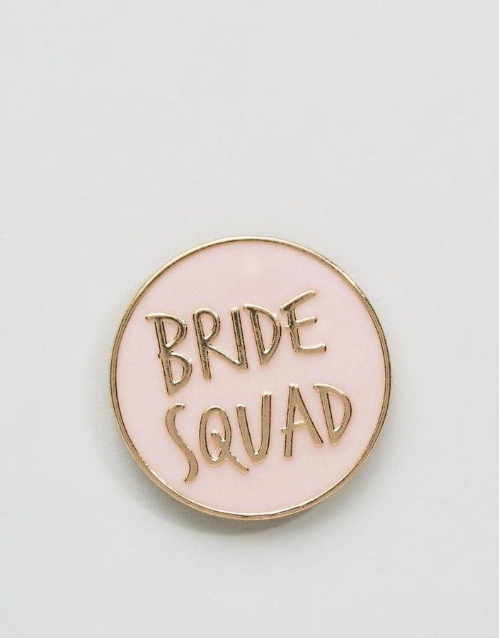 Asos Hen Bride Squad Badge