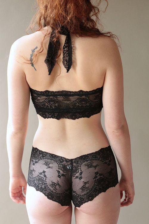 39db1993e38 The Lou Lou halter set in our favourite sheer black lace ♡