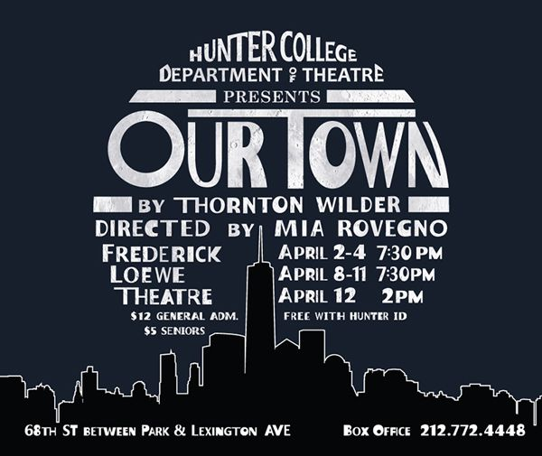 thornton wilder our town essays This is the thirtieth year of the thornton wilder writing competition  essays, poetry, scripts, one  and for two plays, our town (1938), and the skin of our.