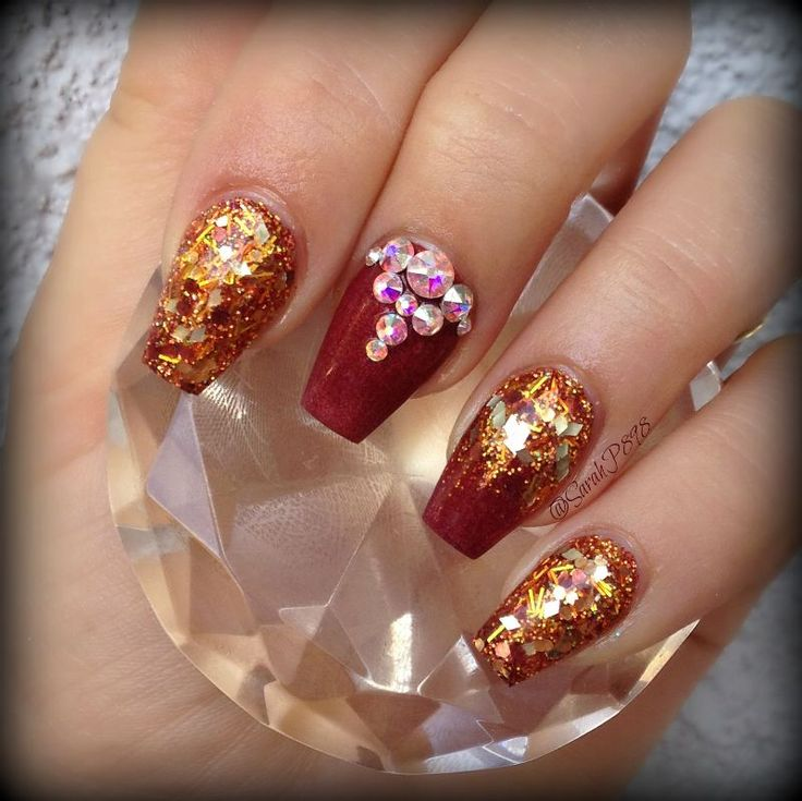 52 best Fall/Autumn Nails images on Pinterest | Fall nails, Autumn ...