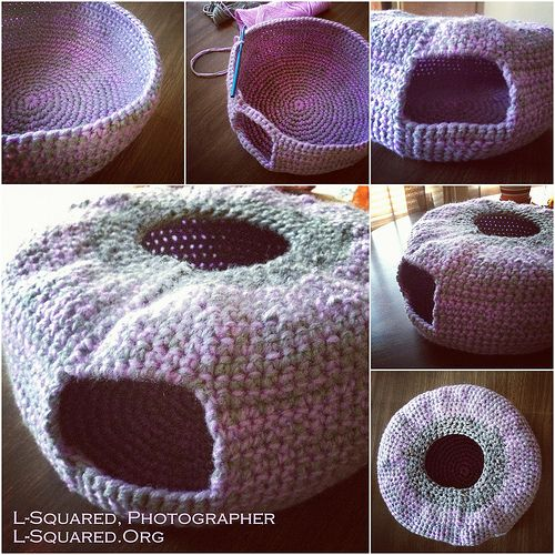 crochet igloo pattern | Crocheting Blind: Crochet Project: Beds for Kitties