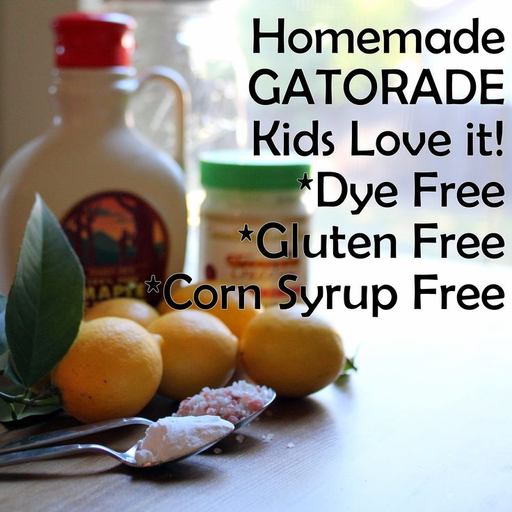 Homemade Gatorade alternative that kids and moms love! Contains electrolytes so you feel your best.