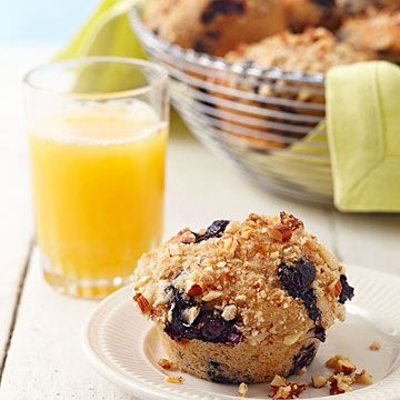 Blueberry-Almond Streusel Muffins Light ricotta cheese and ...