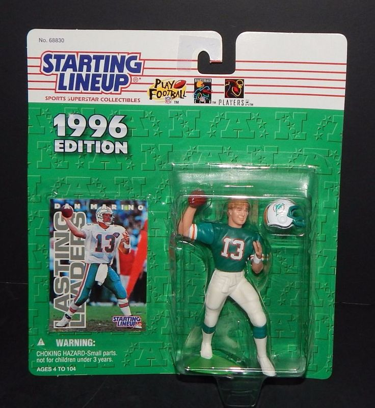 Dan Marino Starting Line Up 1996 Edition Miami Dolphins 68830 in Package Hasbro #STARTINGLINEUP #MiamiDolphins