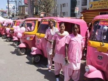 Coming soon in Mumbai: Pink autorickshaws for women, of women, by women!. State Transport Minister Diwakar Raote said the autorickshaws with women drivers will be either pink or saffron in colour in order to make it easier for commuters to make the distinction