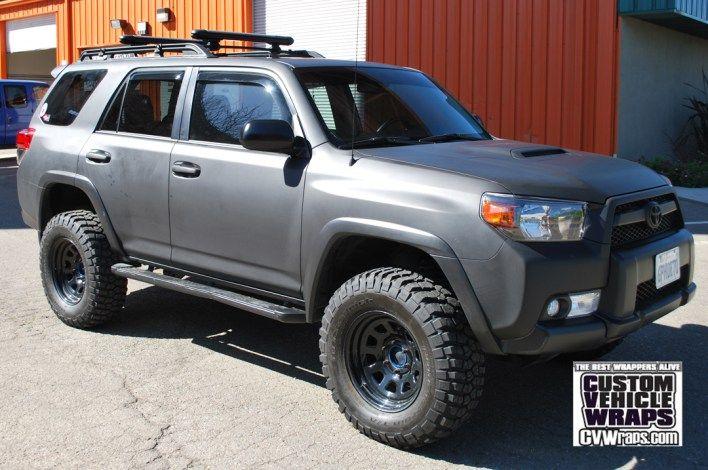 Toyota 4runner Avery Matte Black Wrap Toyota 4runner 4runner Toyota