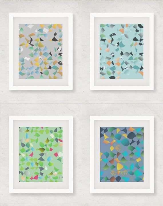 Set of 4 prints print set of four hallway art set print