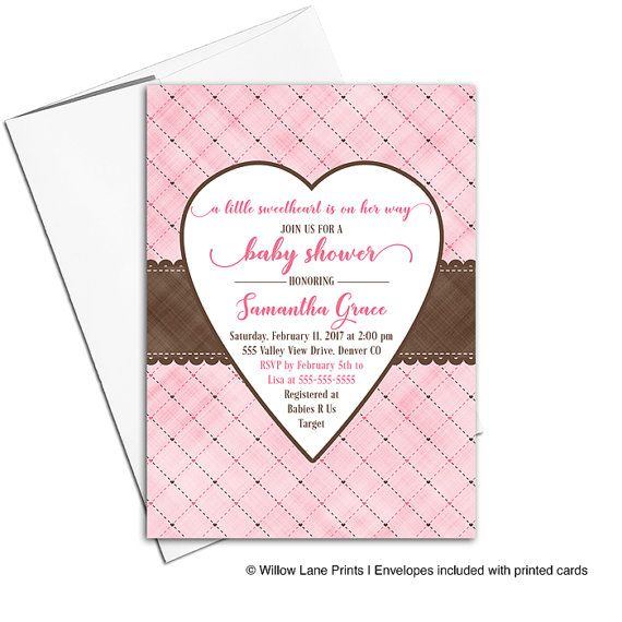 111 best Girl Baby Shower Invitations Willow Lane Paper Co images - valentines day invitations