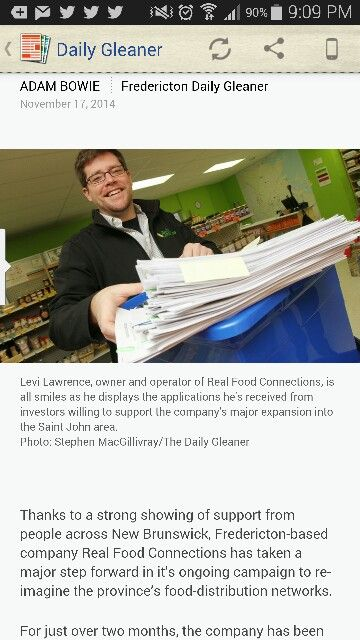 Dailey Gleaner did a nice piece on the success of our share raise.