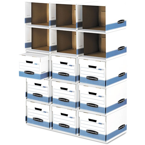 Bankers Box File / Cube Box Shell, Legal / Letter, White and Blue    you could really do a lot with this for $55 toys, moving, college, apartment, etc. and you could spray paint it too