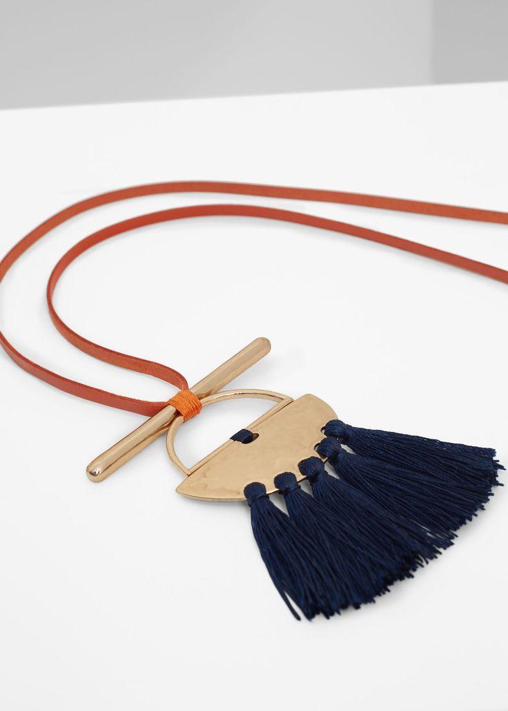Tassel bead necklace | MANGO