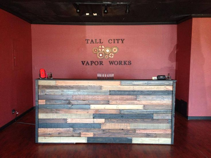 Tall City Vapor Works - Our counter and Logo. Ain't it Sexy?