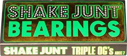 Shake Junt Triple OG's Abec 7 Skateboard Bearings. Shake Junt Triple OG's Abec 7 Skateboard Bearings.