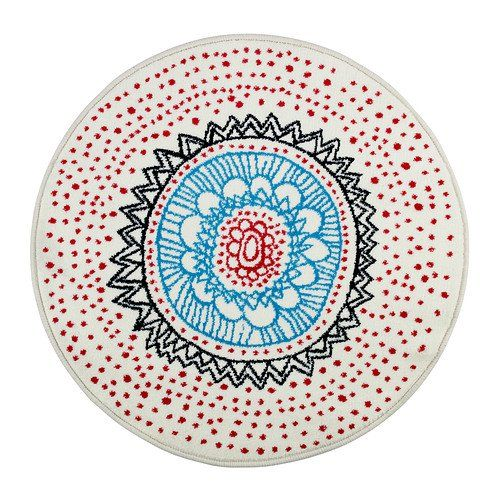Unique Design / Luxury Look 100% Polypropylene Machine Tufted Low Pile Rug With Synthetic latex Backing - Round (80cm Dia) - White CLT http://www.amazon.co.uk/dp/B00CLPPCMS/ref=cm_sw_r_pi_dp_jy8lwb1FGYTRW