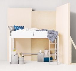 Furniture - Lundia, bedlinen & black-white blanket LANGØ.