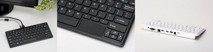 キーボードにPCを内蔵した一体型「キーボードPC」をテックウインドが発表。Windows 10、トラックパッド搭載 - Engadget Japanese