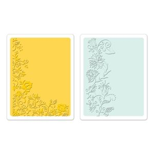 Sizzix Textured Impressions Embossing Folders 2PK - Floral Vines Set $10.99