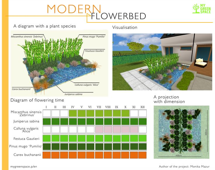 Modern flowerbed. Make your own project of flowerbed with MyGreenSpace mygreenspace.pl/en