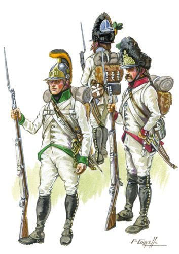 Austrian Grenadiers and line Infantry