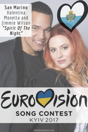 """Eurovision Song Contest 2017: San Marino - """"Spirit of the Night"""" By Valentina Monetta and Jimmie Wilson"""