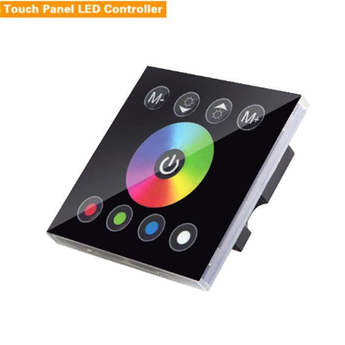 DC 12V 24V Wireless LED Controler RF Touch Panel LED Dimmer RGB Remote Control For SMD 5050 Strip Mi light RGBW RGBWW Bulb